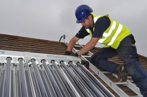 Warmer Homes Heating and Renewables installing solar thermal panels