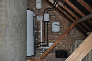 Boiler in attic